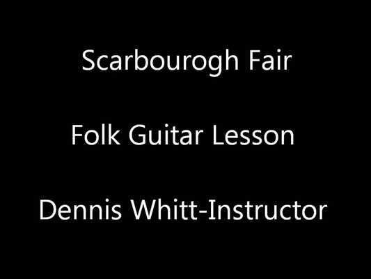 Product picture Scarborough Fair Folk Guitar Lesson